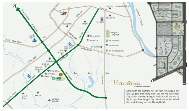 Vị trí dự án Eco Green City Nguyễn Xiển