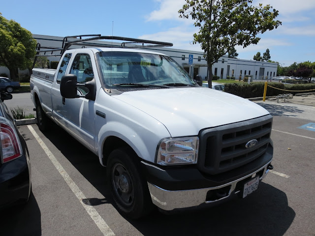 Clean professional appearance after repainting old work truck