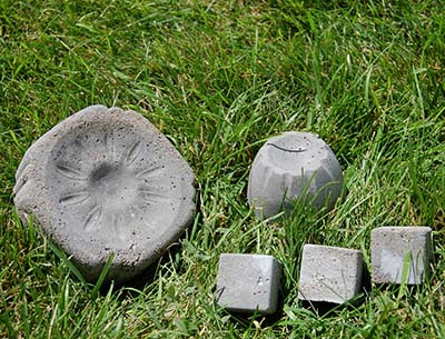 DIY garden projects with poured concrete