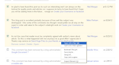 How to remove spam comments from your blog ScreenShot