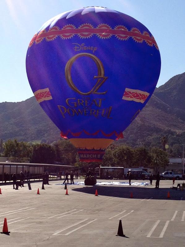Oz Great Powerful movie hot air balloon Disney Studios