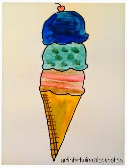 Wayne Thiebaud Ice Cream Cones - Art Intertwine