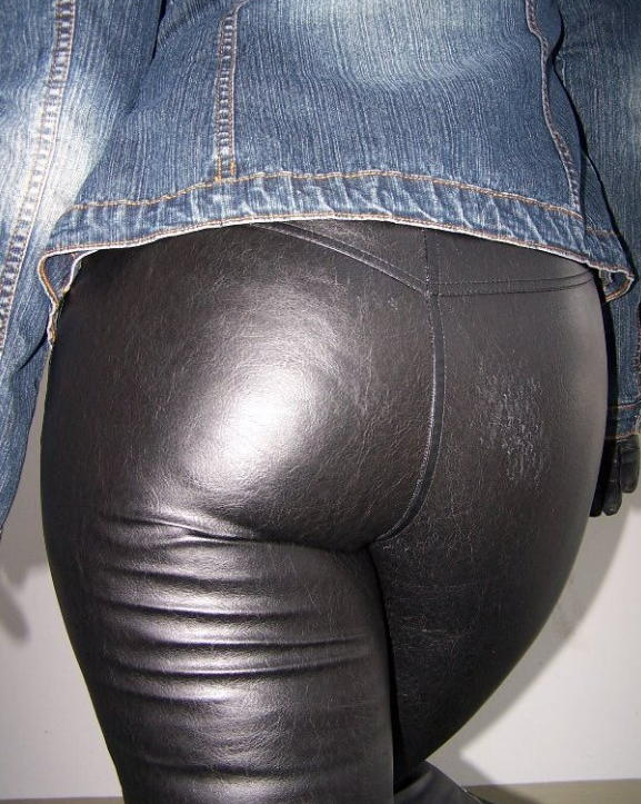 Spank in leather pants great