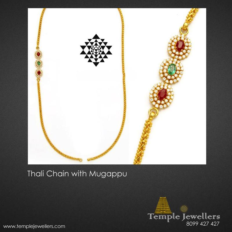 Thali Chain with Mugappu (Side Pendant) Designs