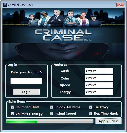 criminal case energy cheats