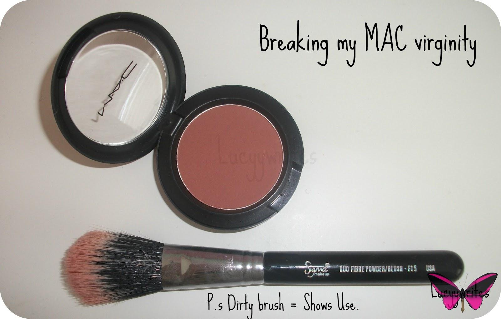 MAC // Sheer Tone Blush in Pinch Me | Lucyy Writes