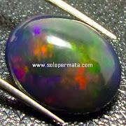 Batu Permata Black Opal kalimaya - Kode  21L05
