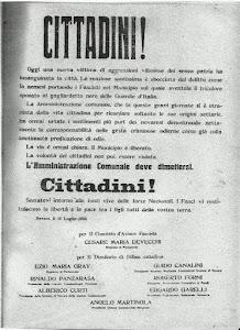 NOVARA 10 LUGLIO 1922 - MANIFESTO SOTTOSCRITTO DA EZIO MARIA GRAY