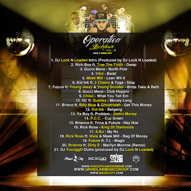 Operation Lockdown Vol. 2 (Hosted by DJ Lock N Loaded) TRACKLIST