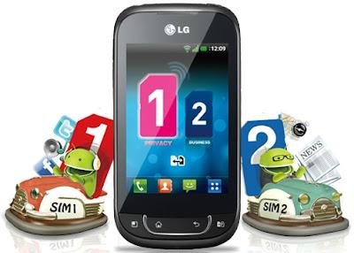HP Android Dual SIM Card LG Optimus Dual SIM P698