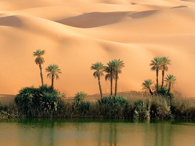 Nature: Ouem El Ma Lake Oasis, Mandara Lakes, Libya