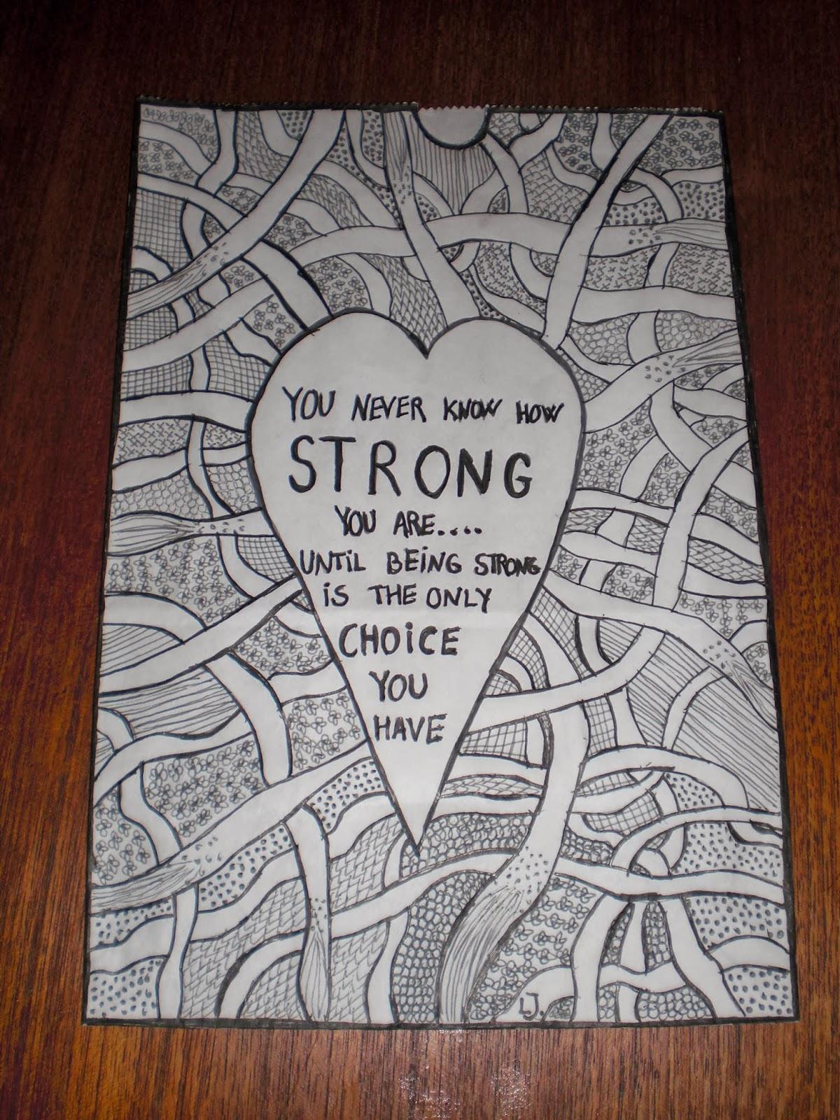 Zentangle kruseduller tegnet på lyspose til Kræftens Bekæmpelse