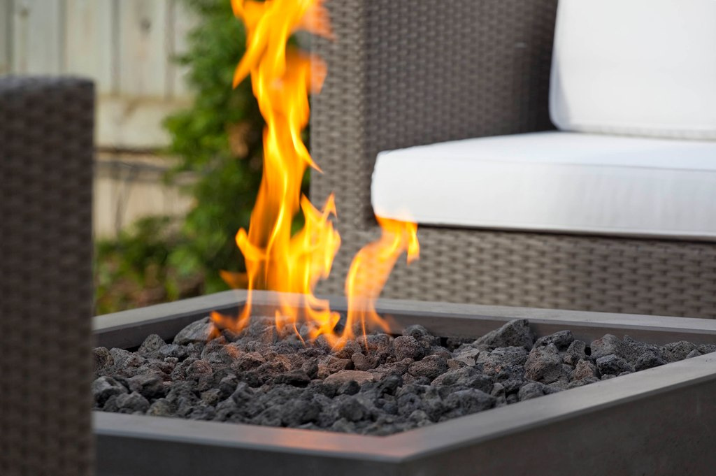 Modern Square Outdoor Gass Fire Pits Fire Pit
