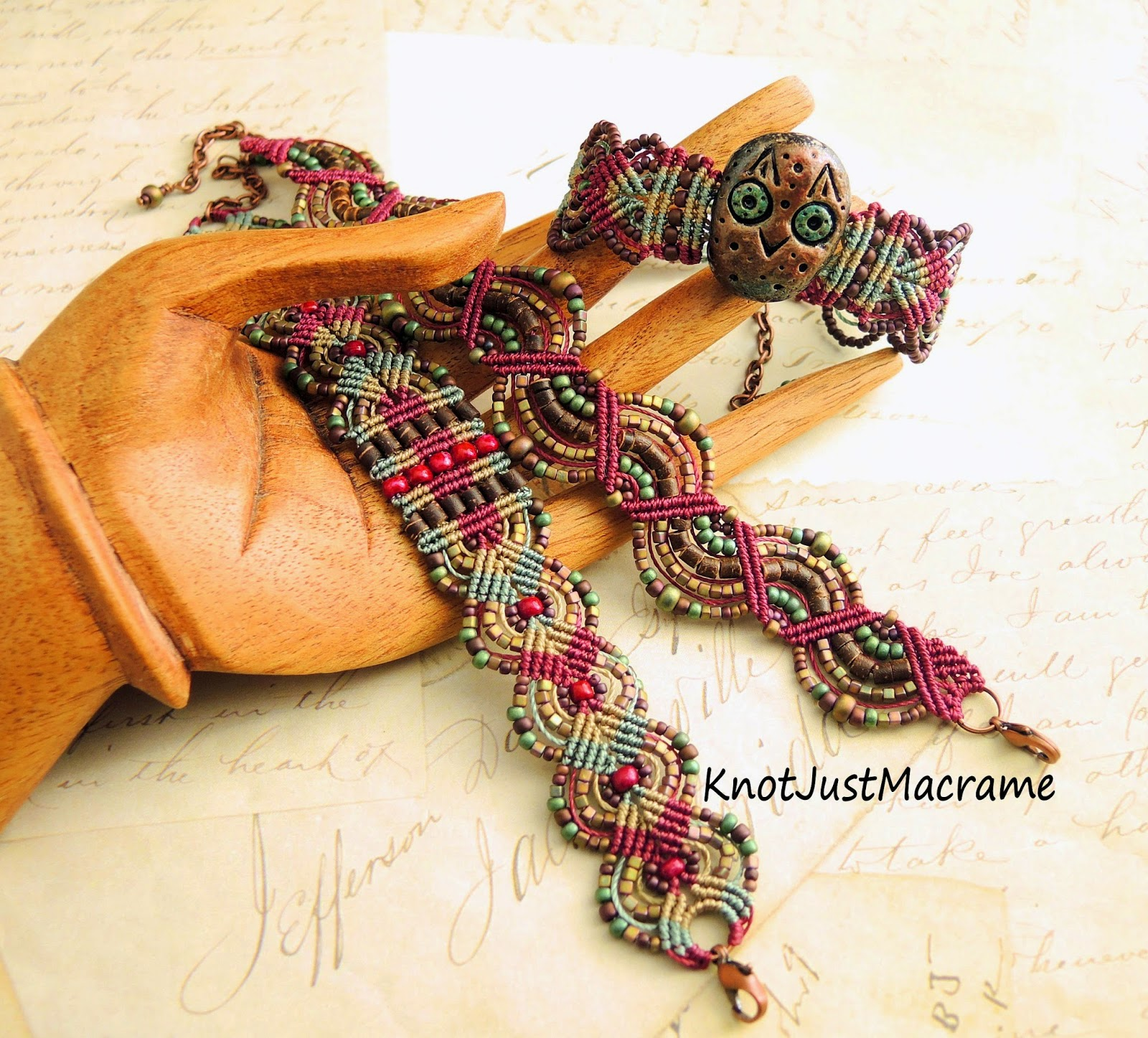Micro macrame bracelets by Knot Just Macrame.