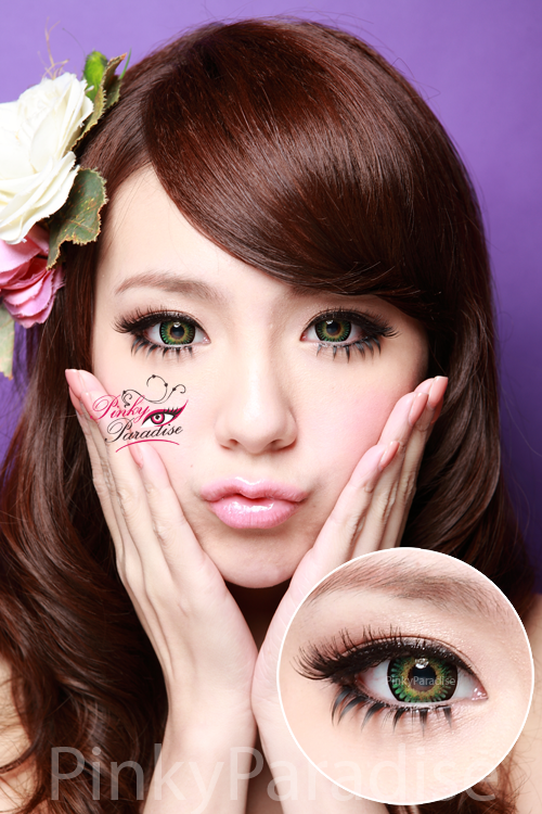 Vassen Bambi Queen Green Circle Lenses (Colored Contacts)