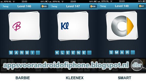 Logo Quiz Nederland cheats en antwoorden level 146 147 en 148