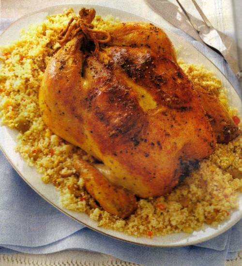 Wandering Brook: Lemon-Roasted Chicken with Olive Couscous