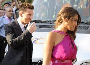 Messi and Antonella at Xavi wedding