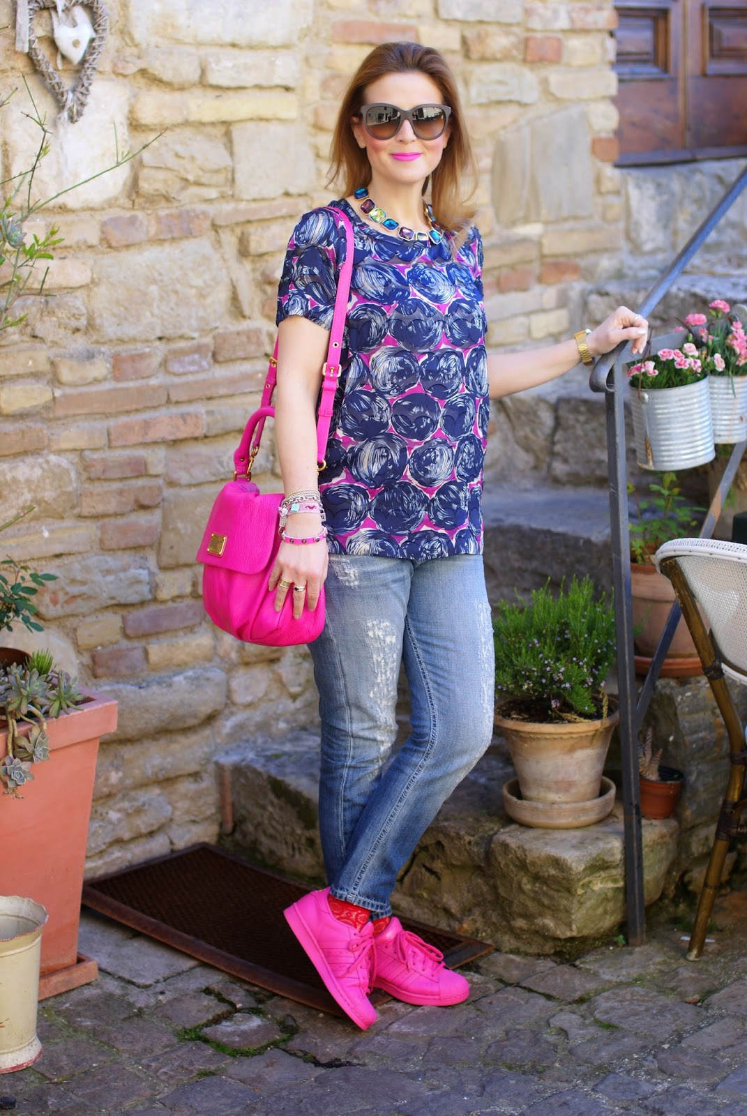 adidas supercolor pink, adidas supercolor rosa, semi solar pink, Fashion and Cookies fashion blog, fashion blogger with supercolor