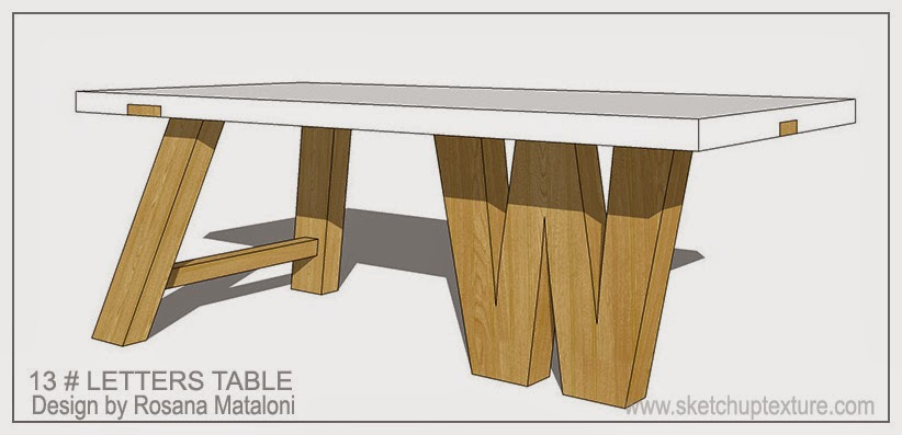 Sketchup free 3d model trends design table chairs and 3d for Table design 3d model