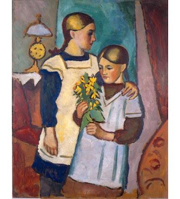 August Macke - Zwei Schwestern,1911