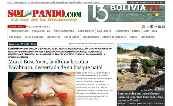Somos el primer Diario Digital de la Regin Amaznica y el Acre de Bolivia | Soldepando.com