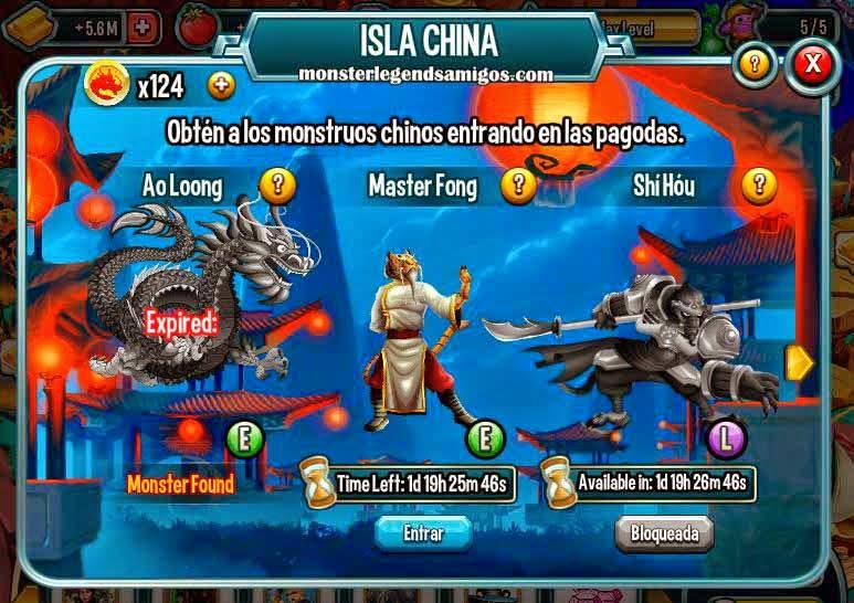 imagen de la segunda guarida de la isla china de monster legends