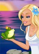 Поцелуй лягушку - Онлайн игра для девочек