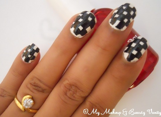 checkered nail tips+tutorial+nail art tutorial+nail art+nail+tutorial