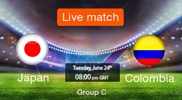 Japan vs. Colombia live 2014 FIFA WORLD CUP