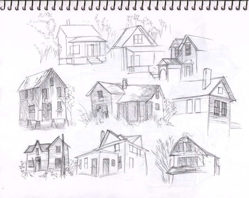 Kelley mcmorris illustration old houses Draw your house