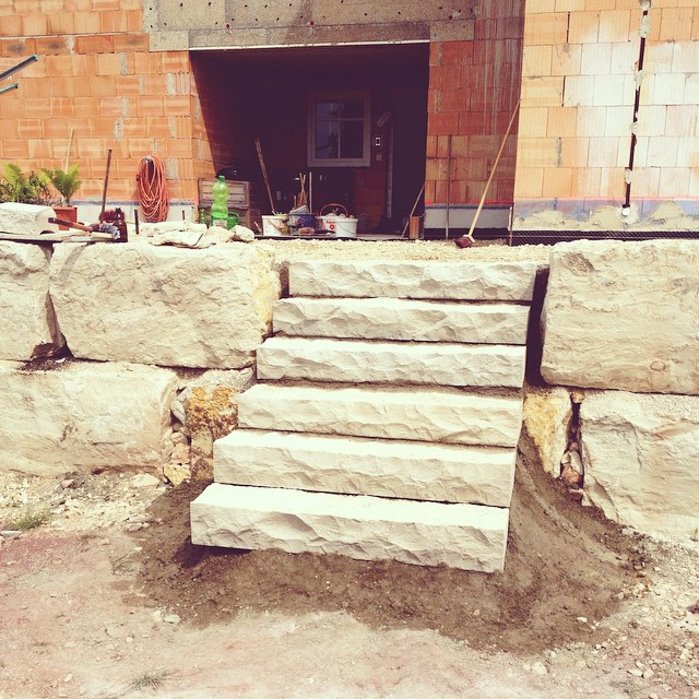 Wir bauen ein Haus Terrassen sind fertig Los geht s mit