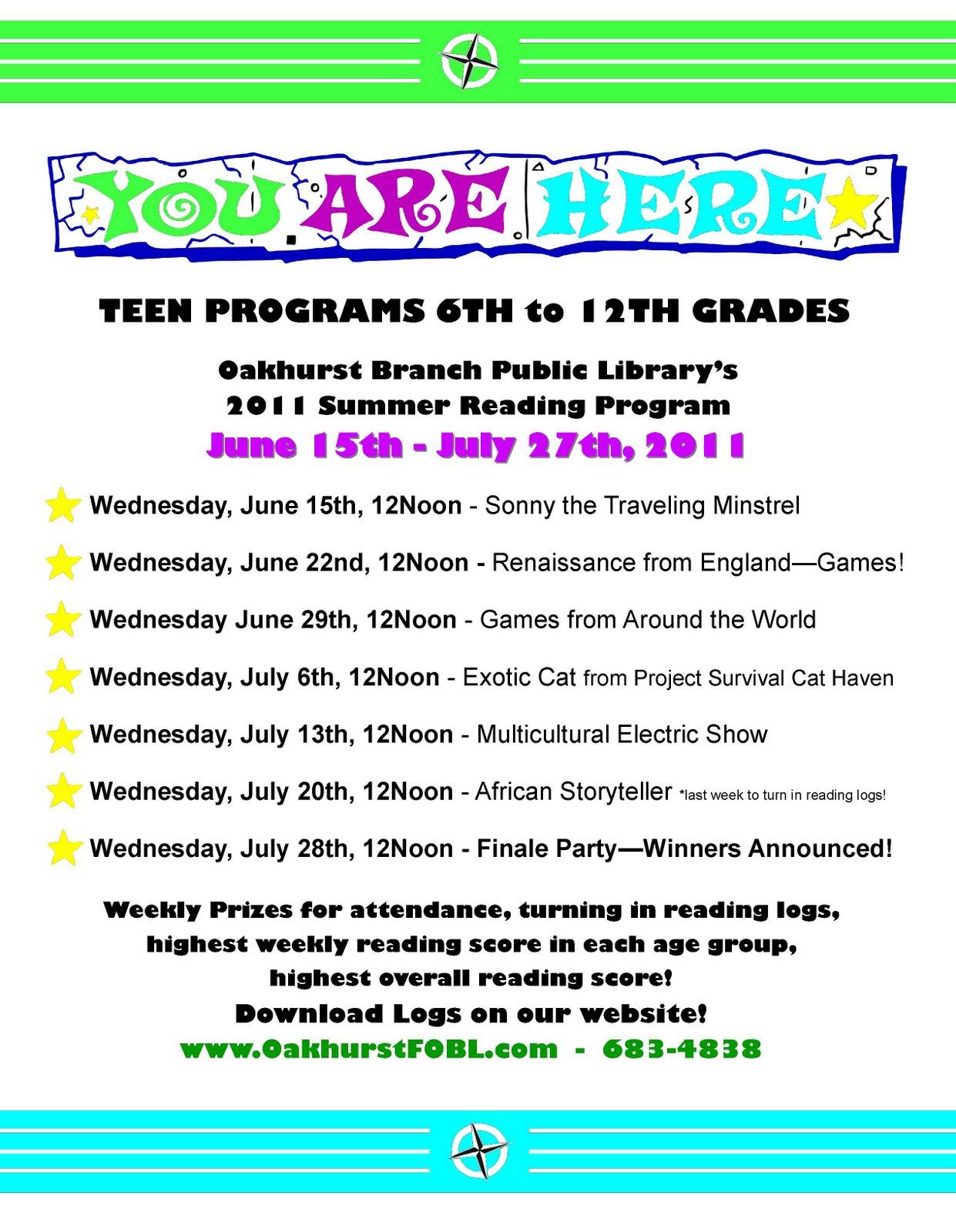 Teen summer reading programs