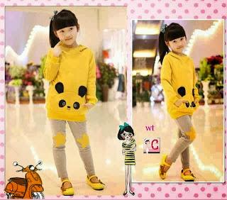 gambar anak memakai baju gaya korea