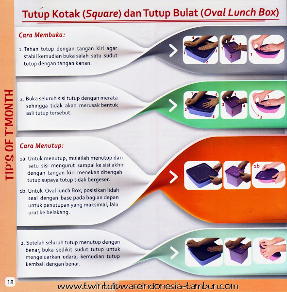 Tip's Of T'Month : Tutup Kotak (Square) & Tutup Bulat (Oval Lunch Box)