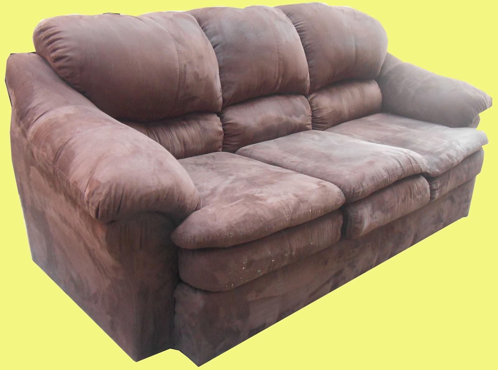 Chocolate Ultrasuede Sofa   SOLD