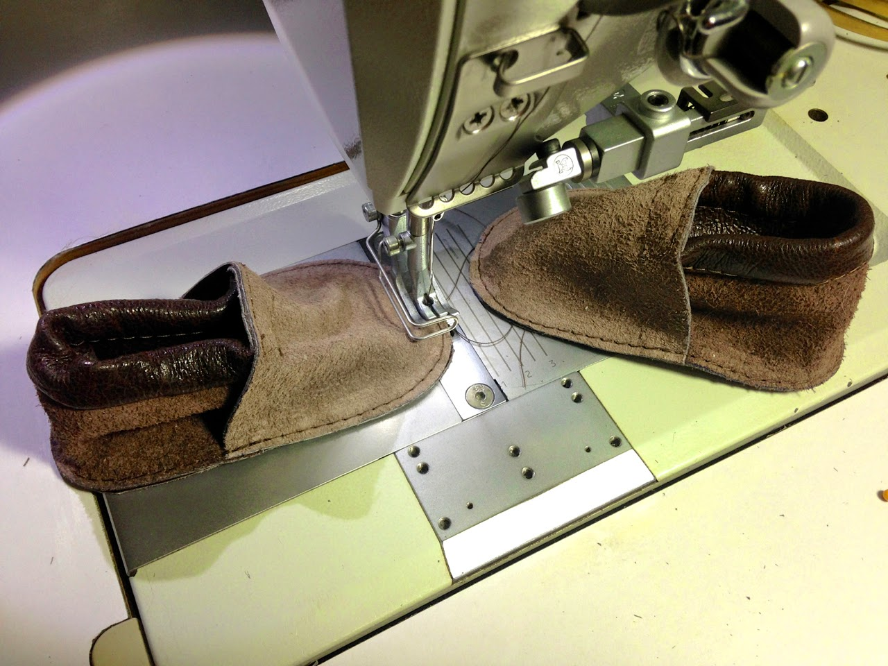 The Project Lady - Leather Couch? Nah, Leather Baby Moccasins!