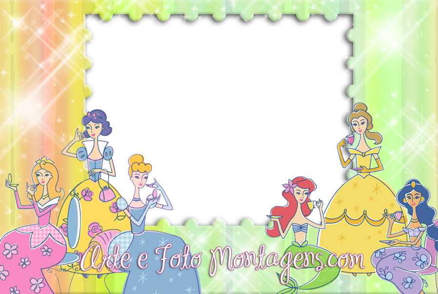 Pics For > Disney Princess Borders And Frames
