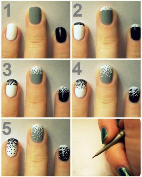 Simple Nail Art For Short Nails: Nail Art Designs: Easy Nail Designs For Short Nails Step