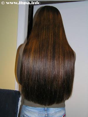 coloured long hair