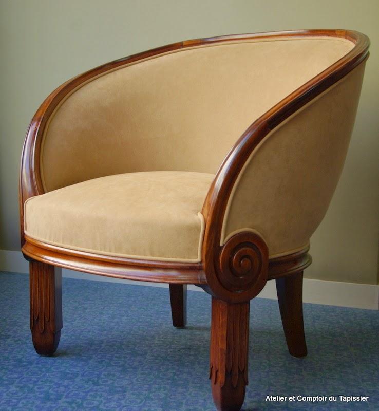 atelier et comptoir du tapissier fauteuil art d co au comptoir du tapissier. Black Bedroom Furniture Sets. Home Design Ideas