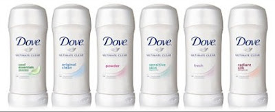 Amostra Gratis Desodorante Dove Ultimate Clear