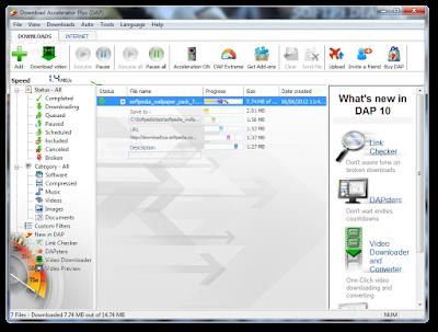 برنامج تسريع التحميل Download Accelerator Plus 10.0.6.0