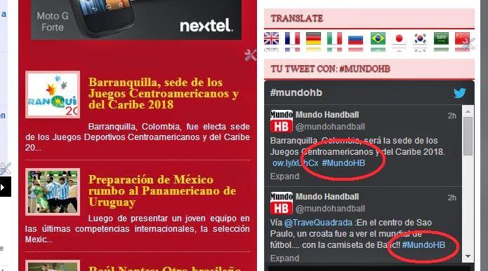 Mensajes con #MundoHB publicados | Mundo Handball