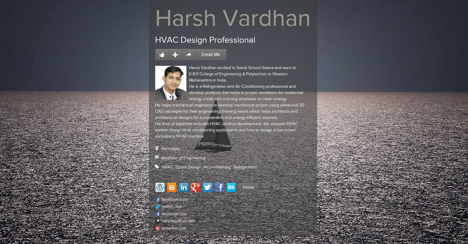 An image of Harsh Vardhan, Refigeration & HVAC Designer
