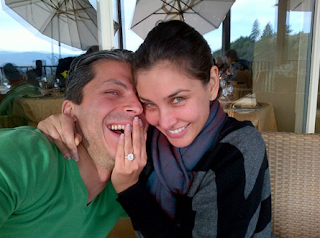 photos of lisa ray and jason dehni with her engagement ring