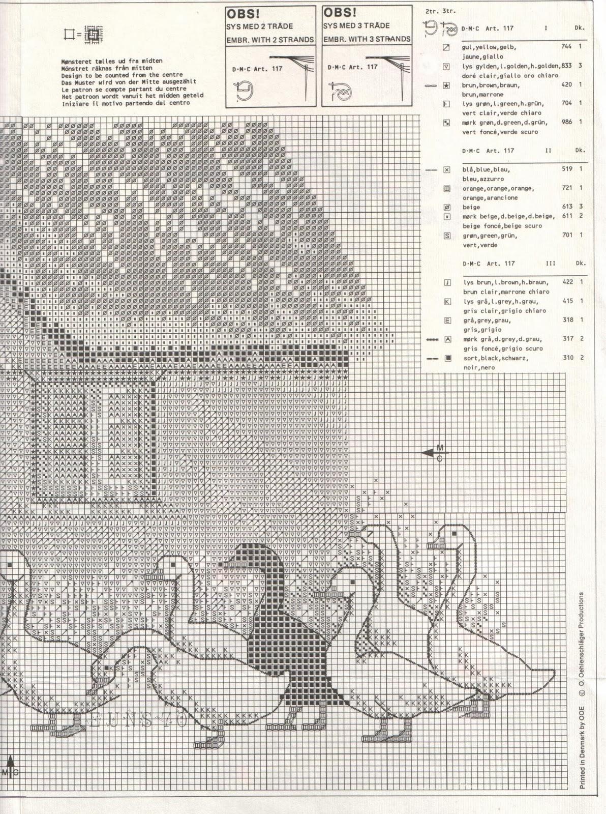 Схемы вышивки крестиком гуси