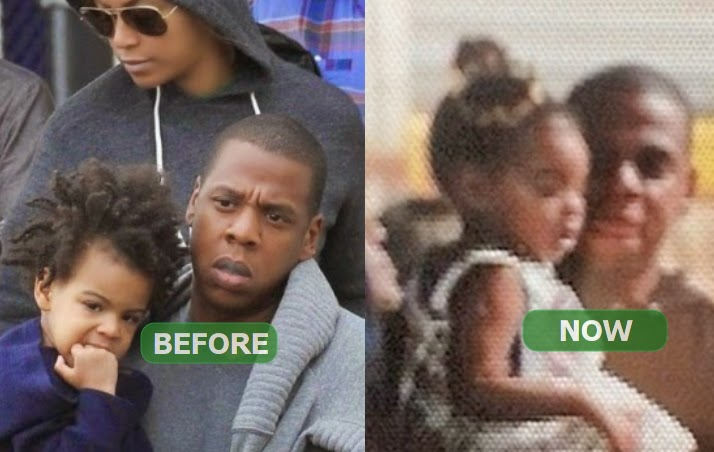 blue ivy hair combed