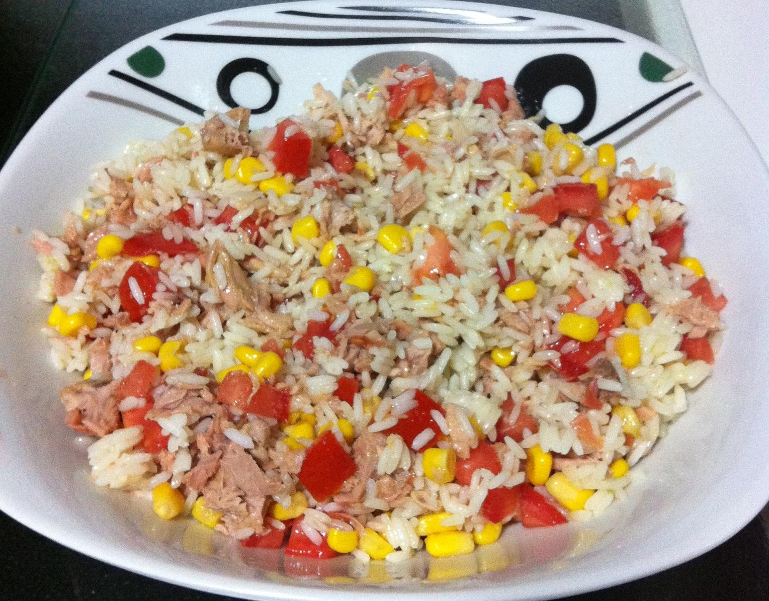 El fog n de sandra ensalada de arroz - Ensalada de arroz y atun ...