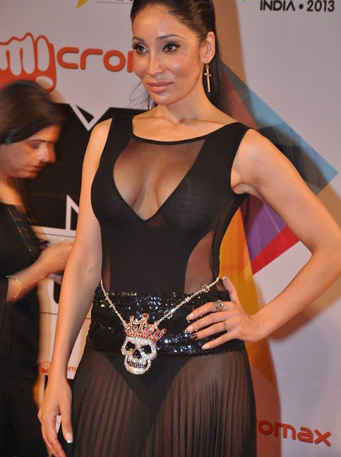 Sofiya Hayat panty and cleavage show